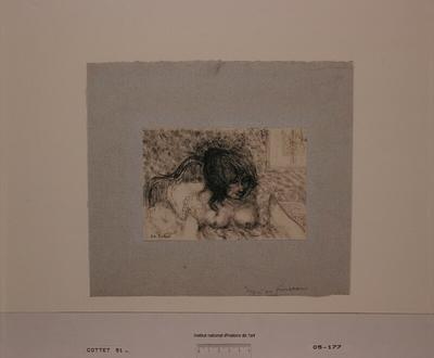 Image from object titled Femme au lit (épreuve a)