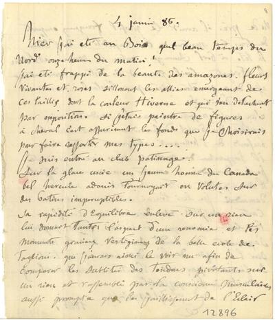 Note de Félix Ziem; Note autographe signée de Félix Ziem