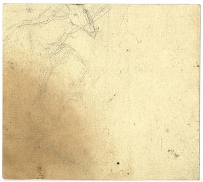Croquis d'Antoine-Louis Barye; Croquis à la mine de plomb non signé d'Antoine-Louis Barye, non daté