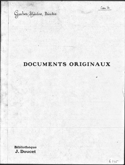 Image from object titled Autographes, Carton 16 : Peintres Gud-Her