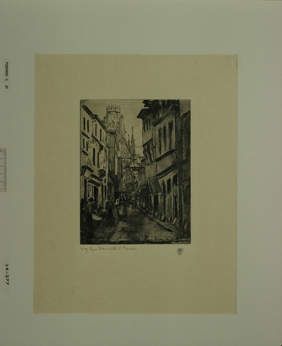 Rue Damiette à Rouen 1884