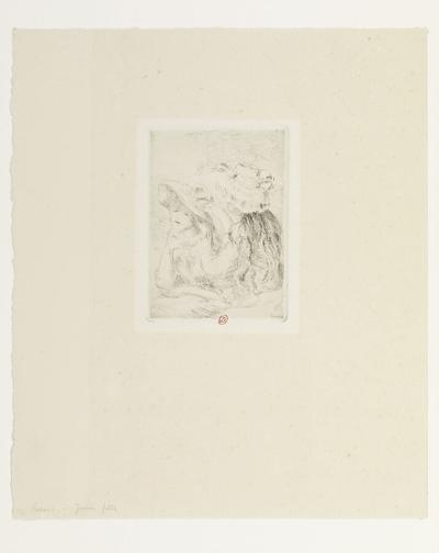 Image from object titled [Le Chapeau épinglé (1ère planche)]; [Le Chapeau épinglé ou Les Jeunes filles : la fille de Berthe Morizot et sa cousine (1ère planche)]