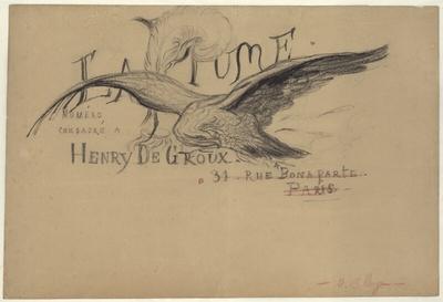 [Projet pour la page de titre d'un numéro de La Plume consacré à Henry de Groux]