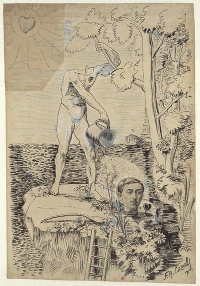 [Composition symbolique réaliser pour illustrer le numéro de La Plume consacré à Maurice Barrès]