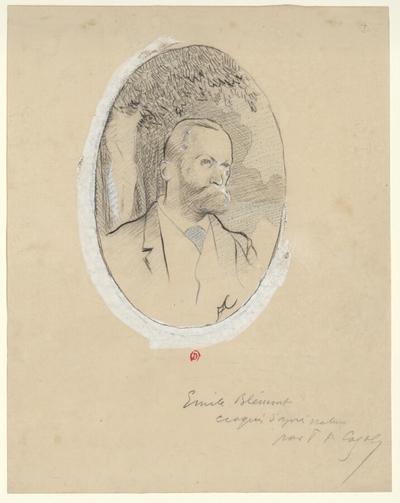 [Portrait d'Emile Blémont d'après un dessin de F.-A.Cazals]
