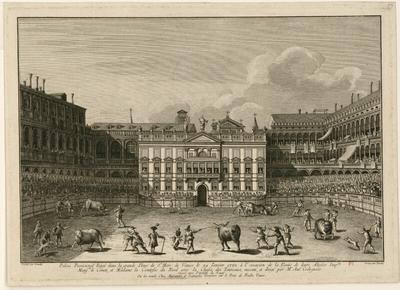 Palais provisional érigé dans la grande Place de Saint Marc de Venise le 24 janvier 1782 [...]; Palais provisional Erigé dans la grande Place de St Marc de Venise le 24 janvier 1782, à l'occasion de la Venüe de leurs...