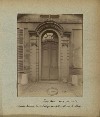 Image from object titled Vieux Paris, Ancien Couvent de l'Abbaye aux Bois, 16 Rue de Sèvres; Vieux Paris (1908), Ancien Couvent de l'Abbaye aux Bois, 16 Rue de Sèvres (VIIe arrt) : [porte]