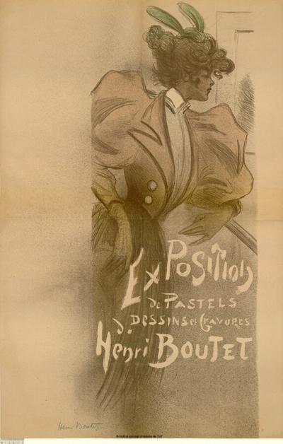[Salon des Cent. Juin 1895]; Exposition de pastels, dessins et gravures d'Henri Boutet