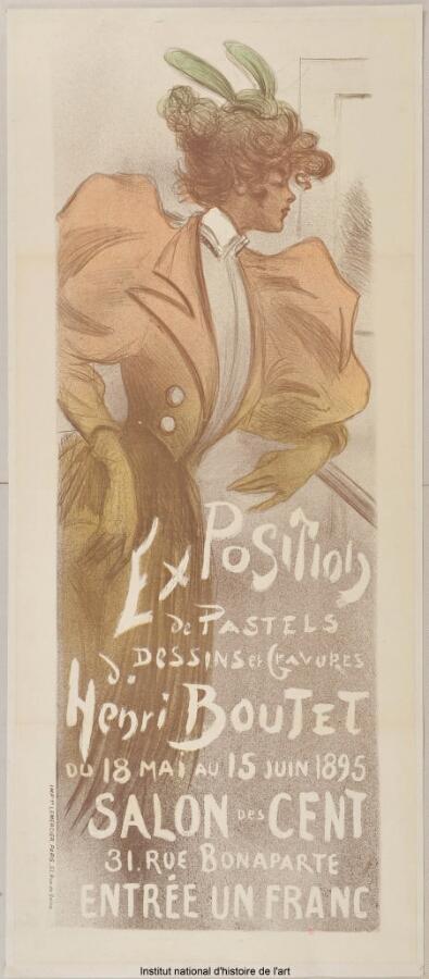 [Salon des Cent. Juin 1895]; Salon des Cent, Exposition de pastels, dessins et gravures de Henri Boutet du 18 mai au 15 juin 1895