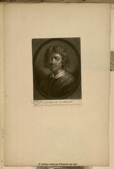 Claude Le Lorrain; Claude Le Lorrain, published March 25th 1777 by John Boydell, engraver in Cheapside London : (portrait)