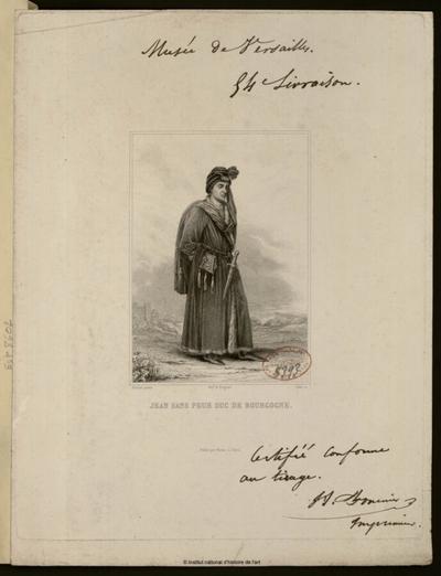 Jean sans Peur, duc de Bourgogne; Jean sans Peur, duc de Bourgogne : (portrait)