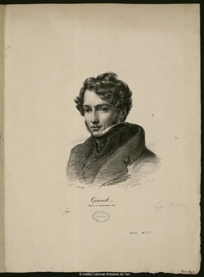 Géricault, d'après un portrait fait en 1816; Géricault, d'après un portrait fait en 1816 : (portrait)