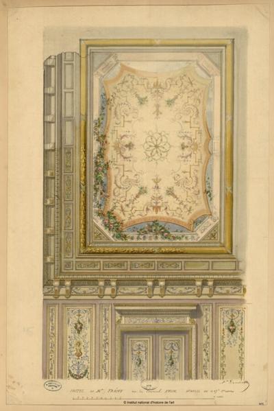 Hôtel de M. Frémy, rue du Cardinal Fesch [élévation et plafond]