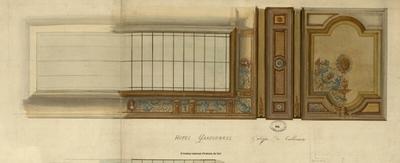 Hôtel Garfounkel, galerie de tableaux [plafond]