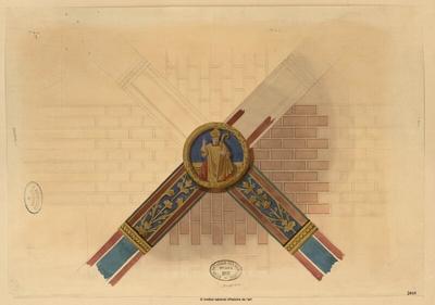 Auxerre [détail d'une clé de voûte]; Auxerre [détail d'une clé de voûte] : [d'après un ouvrage ?]