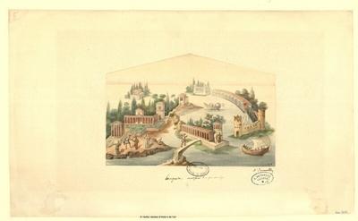 Pompéia, Maison des fontaines [relevé d'une peinture]; Pompéia, Maison des fontaines [relevé d'une peinture] : [d'après un ouvrage ?]
