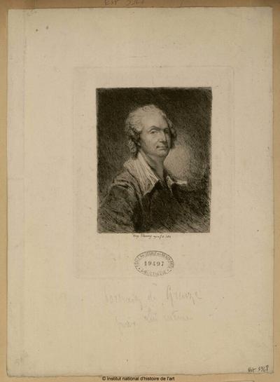 Portrait de Greuze par lui-même; Portrait de Greuze par lui-même : (portrait)