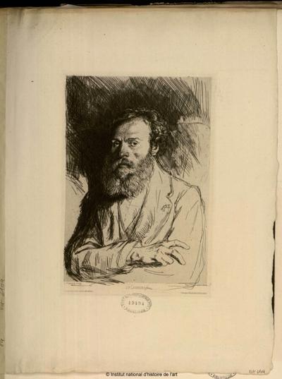 J. P. Laurens (Le Musée des Deux Mondes); J. P. Laurens (Le Musée des Deux Mondes) : (portrait)