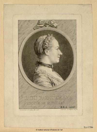 J. Du Ronceray, épouse de M. Favart; J. Du Ronceray, épouse de M. Favart : (portrait)