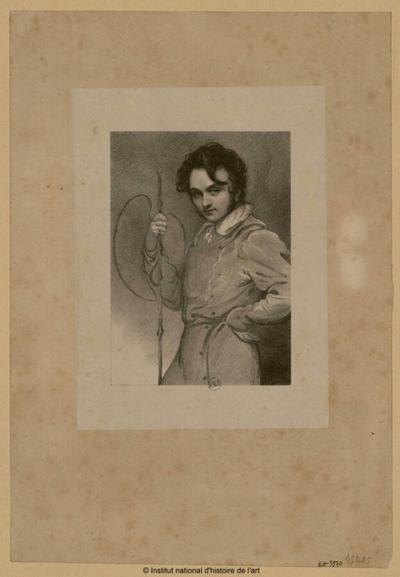 [Portrait du peintre George Hayter]; [Portrait du peintre George Hayter] : (portrait)