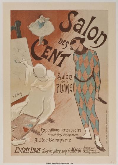 [Salon des Cent. Février 1894]; Salon des Cent. Salon de La Plume, Expositions permanentes renouvelées tous les mois [...] [état définitif] : [1ère exposition]