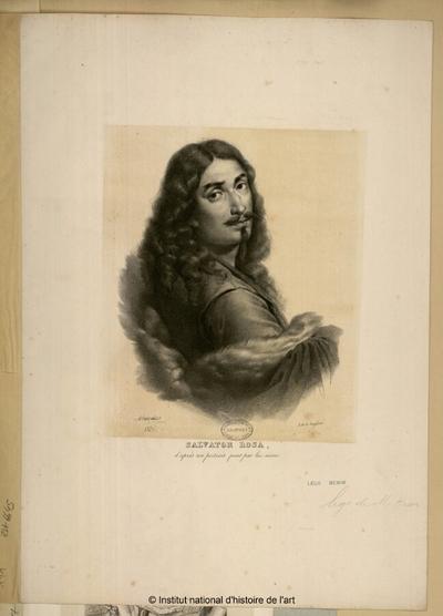 Salvator Rosa, d'après son portrait peint par lui-même; Salvator Rosa, d'après son portrait peint par lui-même : (portrait)
