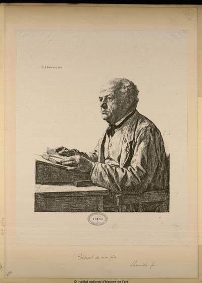 Portrait de mon père [par Léon-Augustin Lhermitte]; Portrait de mon père [par Léon-Augustin Lhermitte] : (portrait)