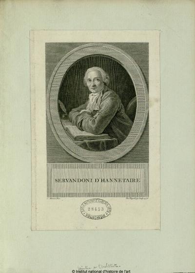 Servandoni d'Hannetaire, peintre et architecte; Servandoni d'Hannetaire, peintre et architecte : (portrait)