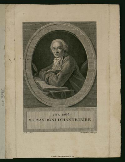Servandoni d'Hannetaire; Servandoni d'Hannetaire : (portrait)