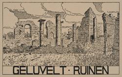 Geluvelt. Ruinen. (Guerre 1914-1918). Cliché d'après un dessin par Anton Schütz