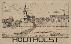 Houthulst (Clerken). Ruines, guerre 1914-1918. Cliché d'après un dessin par Anton Schütz