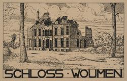 Schloss - Woumen. (Ruines guerre 1914-1918). Cliché d'après un dessin par Anton Schütz