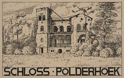Schloss-Polderhoek (Ruines, guerre 1914-1918). Cliché d'aprés un dessin par Anton Schütz