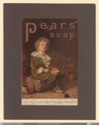 "Pears' soap. ""Bubbles"" by Sir John E. Millais"