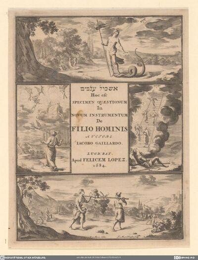 Eskôl 'anav´´im hoc est specimen quaestionum in novum instrumentum