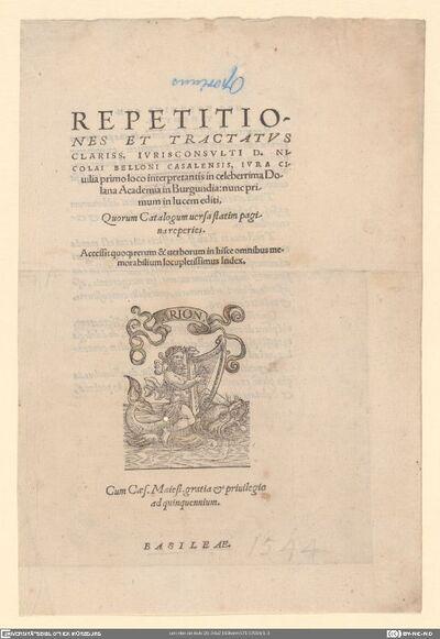 Druckermarke Oporinus, Johannes