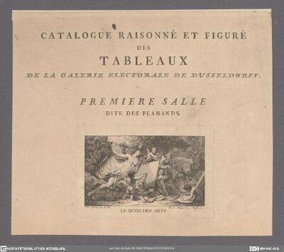 Catalogue Raisonné Et Figuré Des Tableaux De La Galerie Electorale De Dusseldorff. 1. Salle