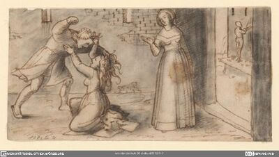 Tessa überrascht Calandrino mit Nicolosa