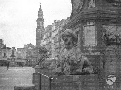Image from object titled Napoli Dettaglio di una delle sfingi che decorano le fontane di piazza Mercato