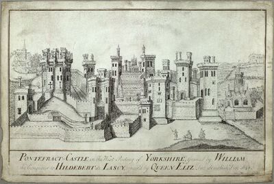 Drawing by Jonathan Marsden based on the survey for Elizabeth I c1560 [PRO MR16] in the National Archive