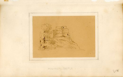 Sketch allegedly of Pontefract c 1820-1850 with few recognisable features