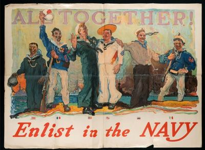 All together! Enlist in the Navy  / H. Reuterdahl U.S.N.R.F
