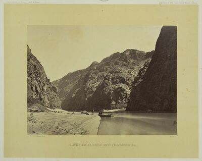 Black Cañon, Colorado River, Looking above from Mirror Bar