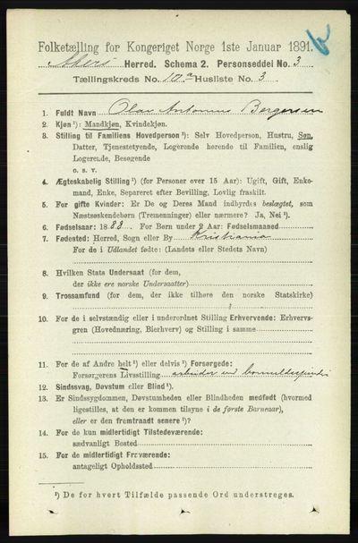 Image from object titled Folketelling 1891 - Aker - personsedler - side 8871
