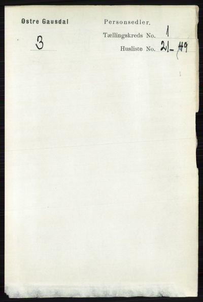 Image from object titled Folketelling 1891 - Østre Gausdal - personsedler - side 324
