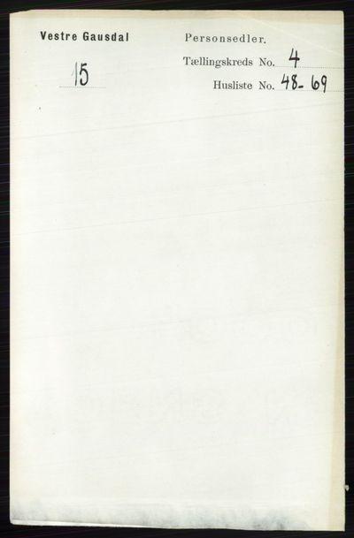 Image from object titled Folketelling 1891 - Vestre Gausdal - personsedler - side 1977