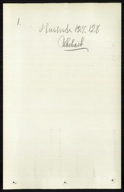 Image from object titled Folketelling 1891 - Vestre Toten - personsedler - side 1191