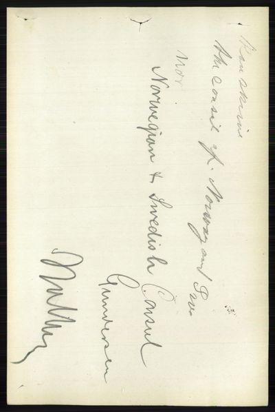 Image from object titled Folketelling 1891 - Vestre Toten - personsedler - side 6344