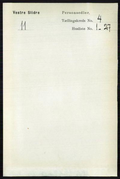 Image from object titled Folketelling 1891 - Vestre Slidre - personsedler - side 1256