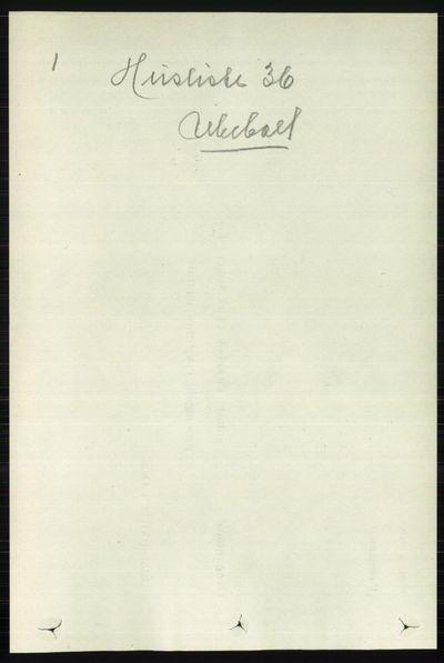 Image from object titled Folketelling 1891 - Nord-Aurdal - personsedler - side 309